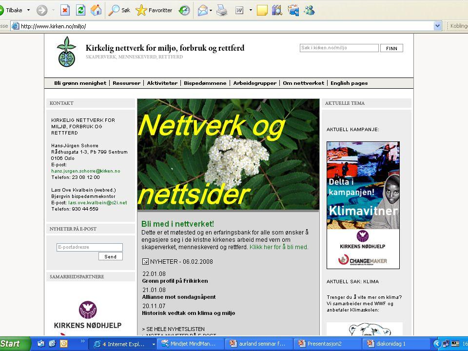 Nettverk og nettsider