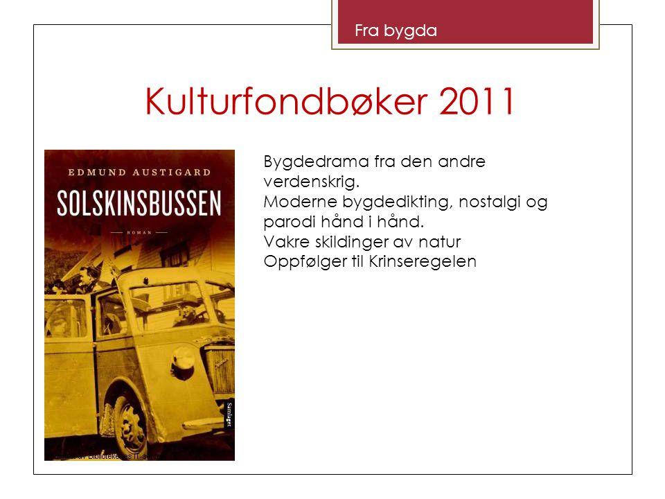 Kulturfondbøker 2011 Lyrikk Om Bergen by og kjærlighetssorg.