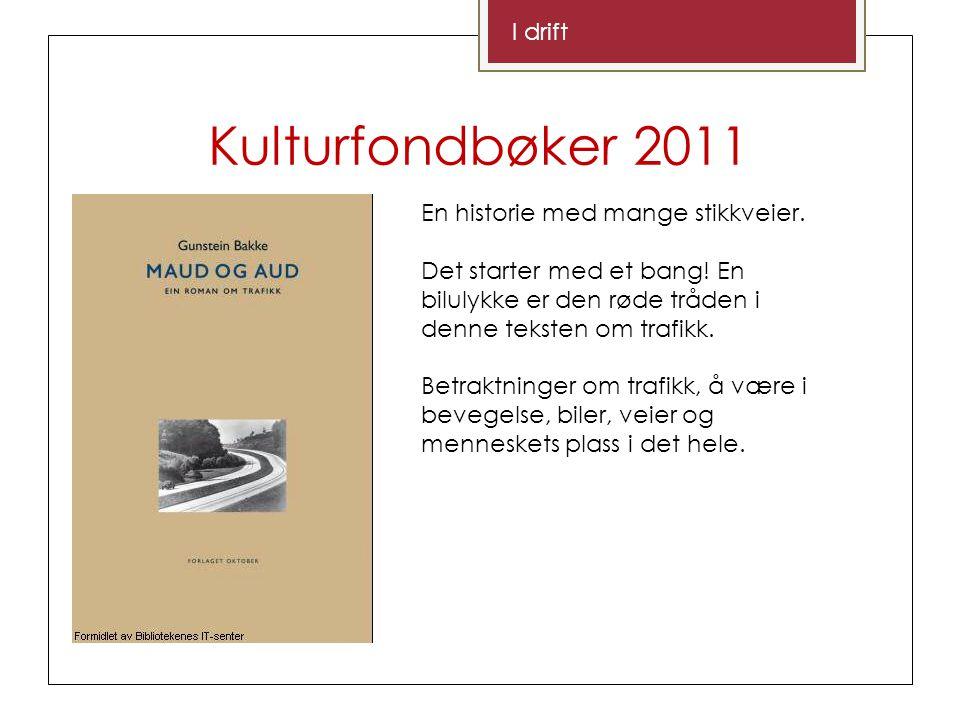 Kulturfondbøker 2011 I drift En historie med mange stikkveier.