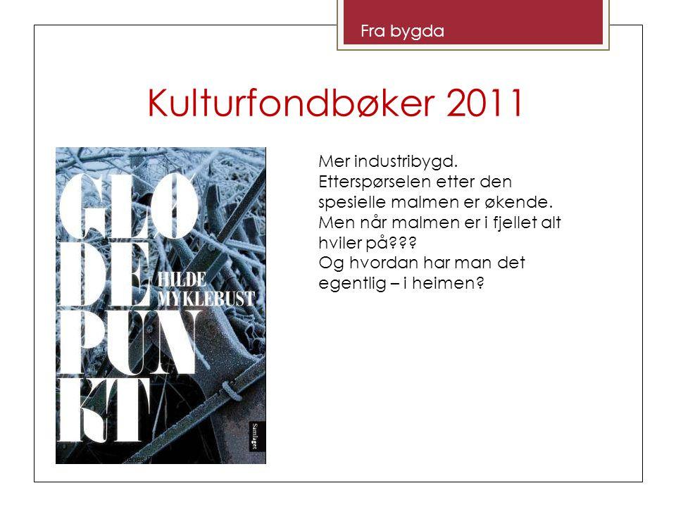 Kulturfondbøker 2011 Fra bygda Overskuddsfenomen av ei bok.
