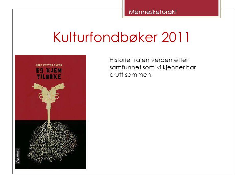 Kulturfondbøker 2011 Historie fra en verden etter samfunnet som vi kjenner har brutt sammen.
