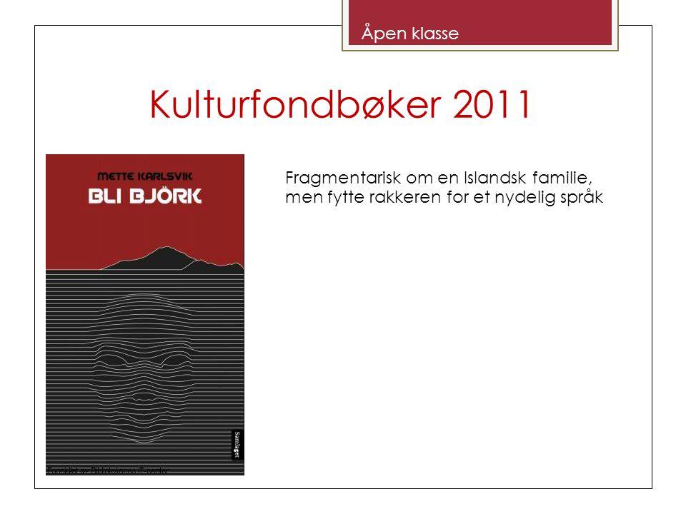 Kulturfondbøker 2011 Åpen klasse Fragmentarisk om en Islandsk familie, men fytte rakkeren for et nydelig språk