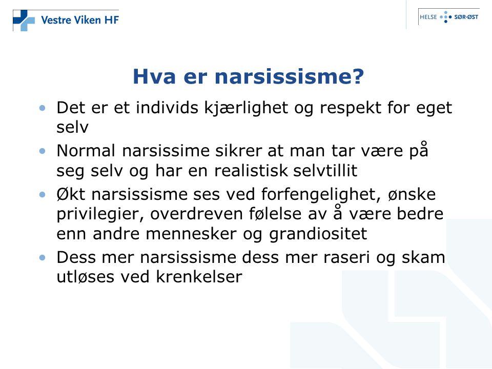 Hva er narsissisme.