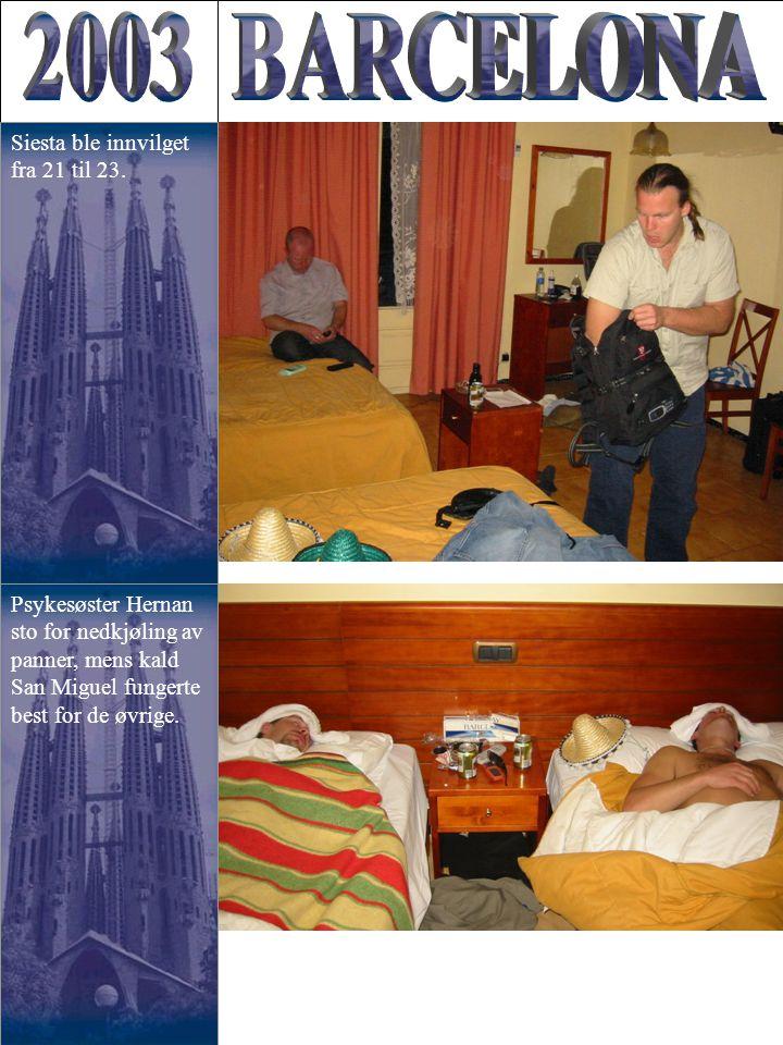 Psykesøster Hernan sto for nedkjøling av panner, mens kald San Miguel fungerte best for de øvrige.