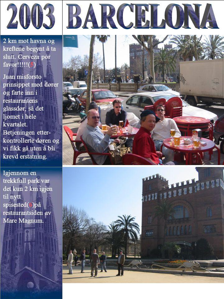 Igjennom en trekkfull park var det kun 2 km igjen til nytt spisested(6)på restaurantsiden av Mare Magnum.