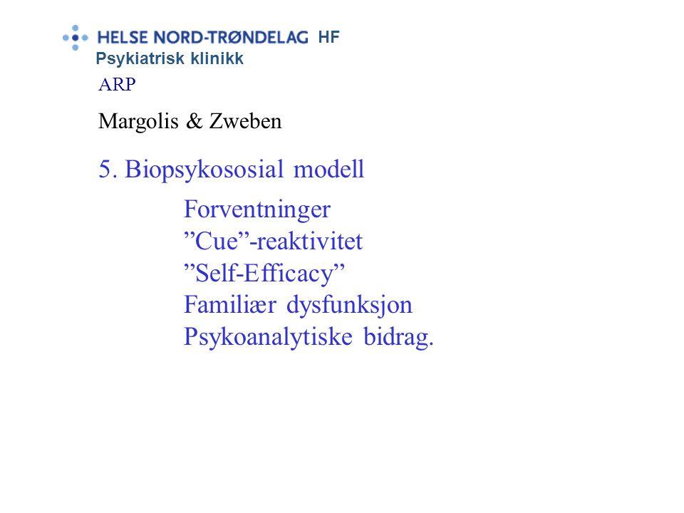 HF Psykiatrisk klinikk ARP Margolis & Zweben •Familie-atferds-modellen fokus på atferdsinteraksjoner •Familie-sykdoms-modellen Sykdom, ektefelle som m