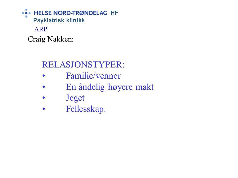 """HF Psykiatrisk klinikk ARP Craig Nakken: Misbruk baseres på emosjonell logikk (2:2): """"Andres omsorg oppfattes som problem og ubehag. De oppfattes som"""