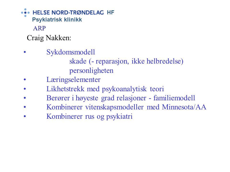 HF Psykiatrisk klinikk ARP Erik Homburger Erikson ? ?