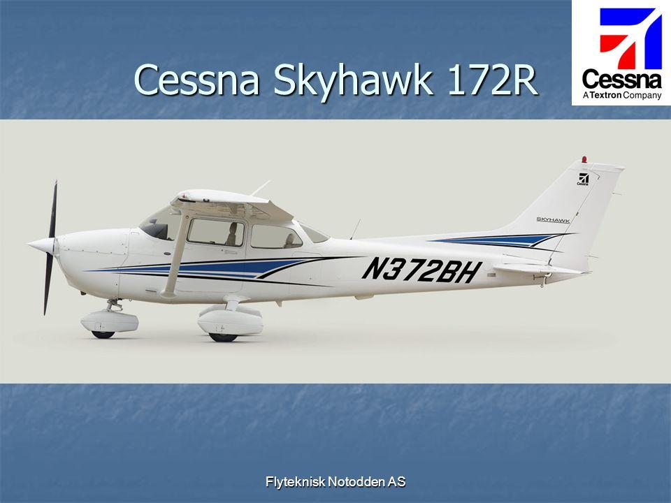 Flyteknisk Notodden AS Cessna Skyhawk 172R  Fire seters skole- og reisefly VFR/IFR  Motor 160 HK  G1000  Amsafe airbag i sikkerhetsbelter  Ikke autopilot