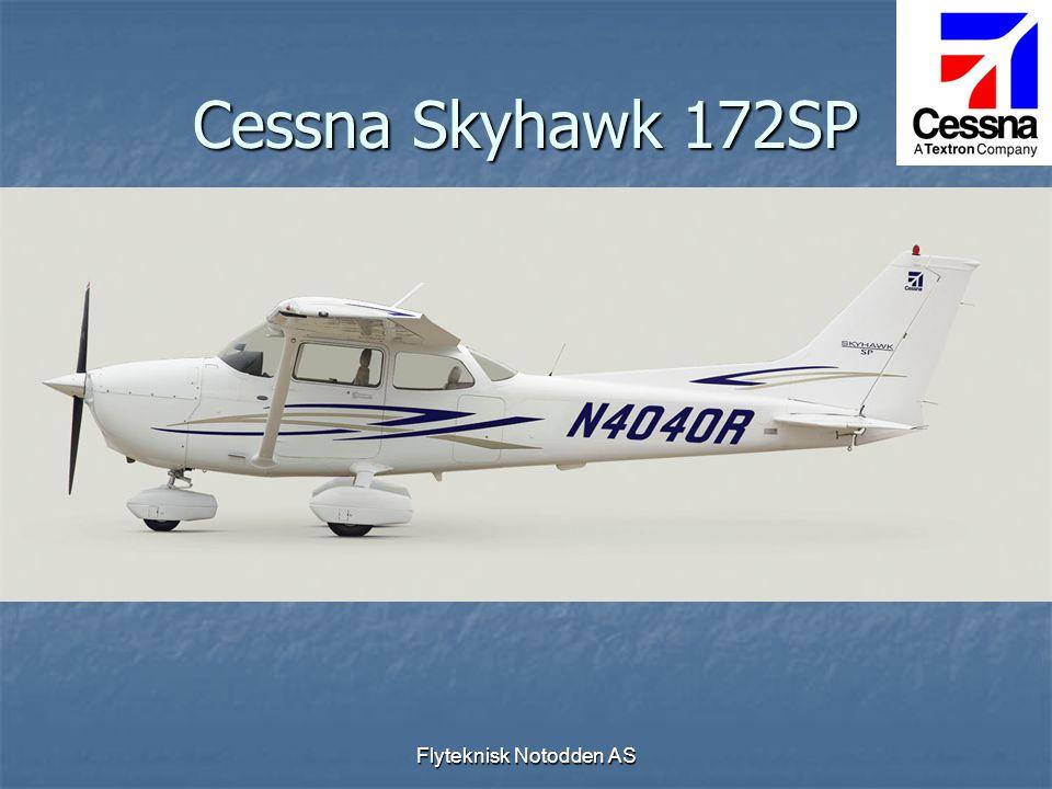 Flyteknisk Notodden AS Cessna Skyhawk 172SP  Fire seters skole- og reisefly VFR/IFR  Motor 180 HK  G1000  Amsafe airbag i sikkerhetsbelter  Skinnseter  KAP 140 Autopilot