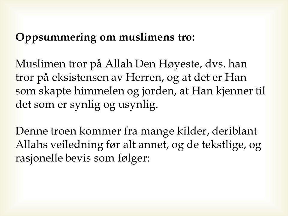 Rasjonelle bevis Følgende er noen av de rasjonelle bevisene og argumentene om Hans Herredømme over alle skapninger: 1.