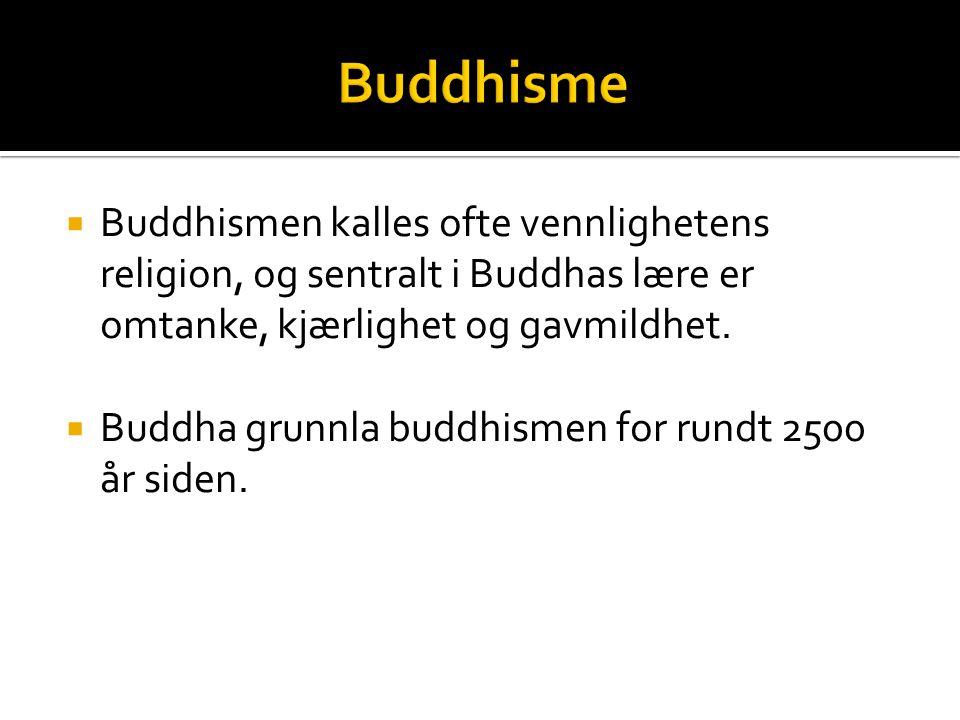 Bueddhism  BUDDHAS LÆRE - VEIEN I Østen blir religion ofte sett på som en vei å gå for å finne frelse.