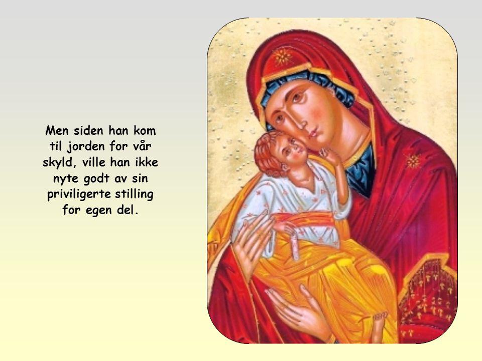 Det er nok å betrakte Jesus, Guds Sønn, og hans forhold til Faderen: Jesus ba til sin Far som i «Fadervår».