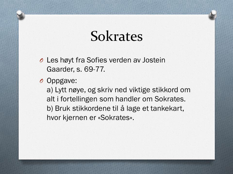 Den filosofiske samtalen O Sokrates utviklet en egen samtalemetode.