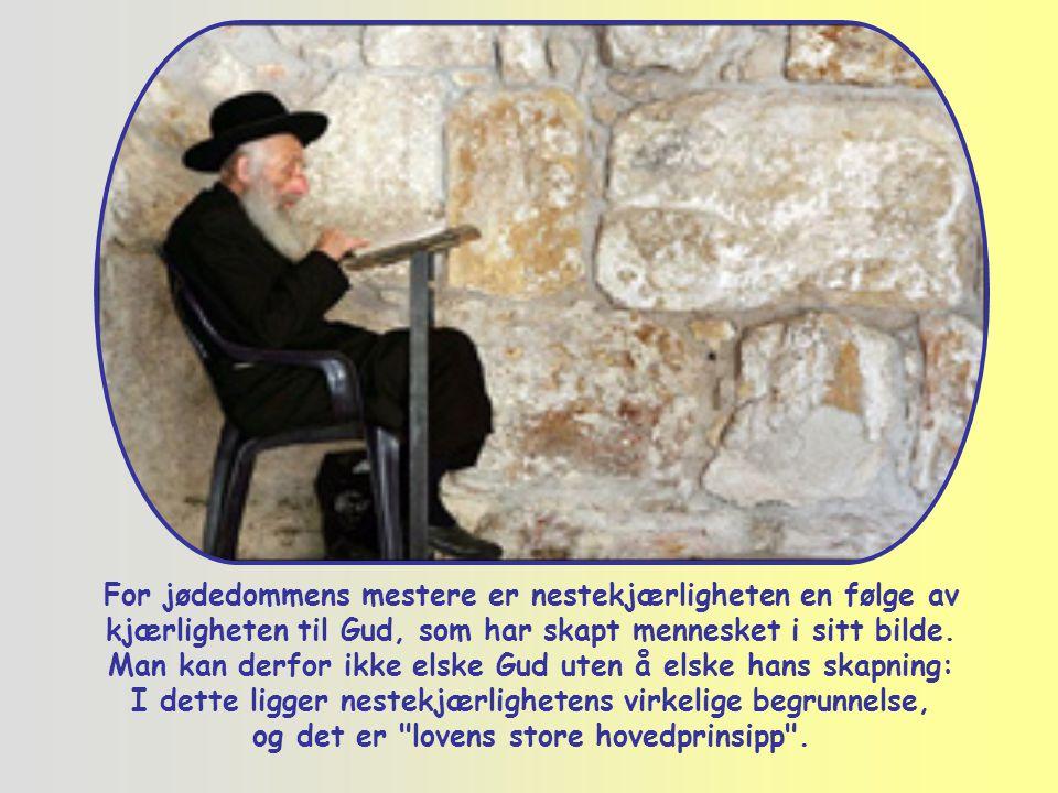 Rabbi Hillel, en av hans samtidige, sa: