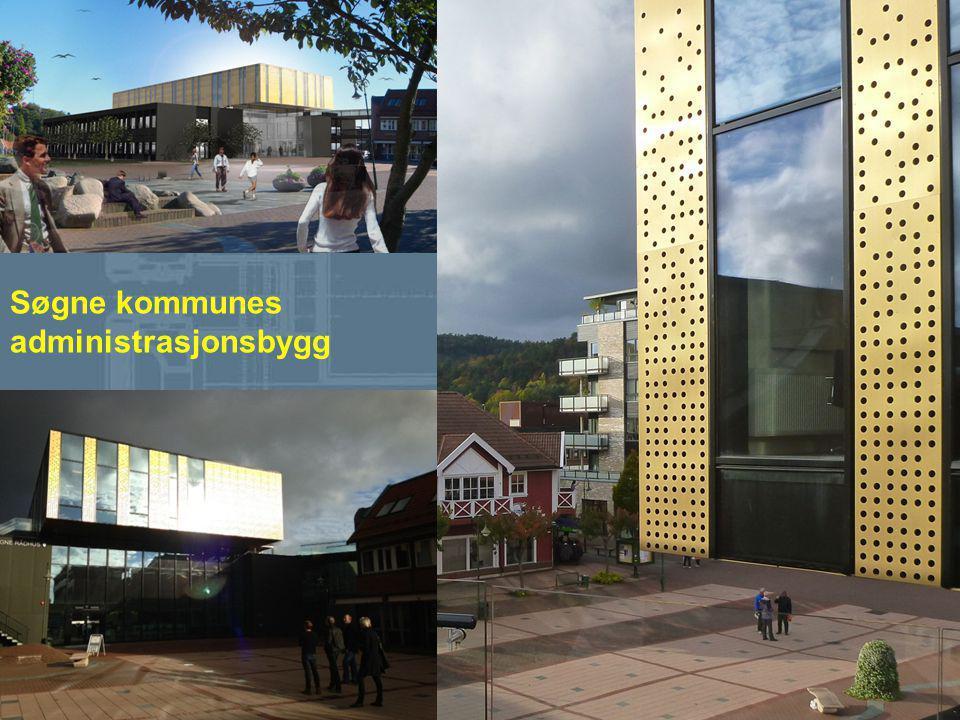 De nominerte er: Søgne kommunes administrasjonsbygg