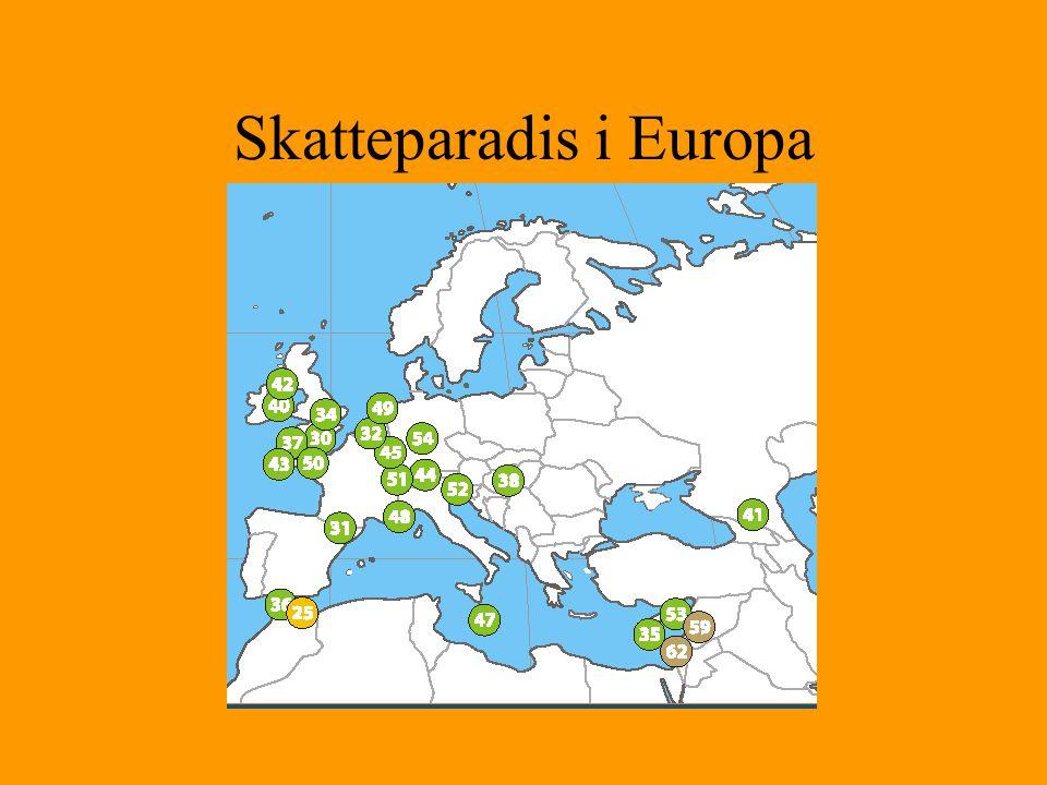 Skatteparadis i Europa