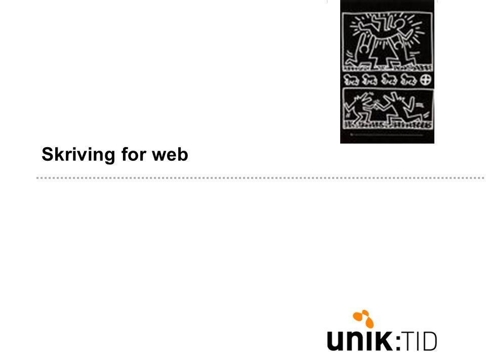 Skriving for web