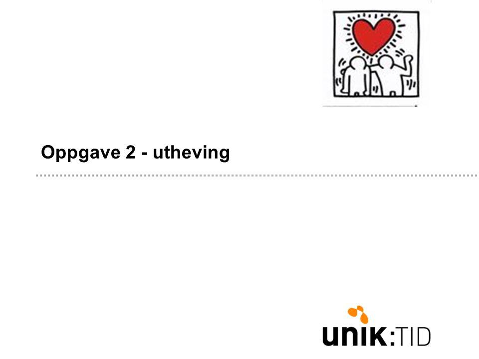 Oppgave 2 - utheving