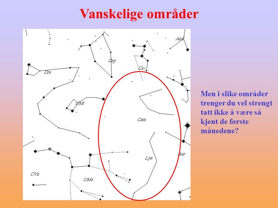 Å finne frem med kikkert/teleskop - hjelpemidler Rettvendt og stort felt eller Stort felt, men speilvendt