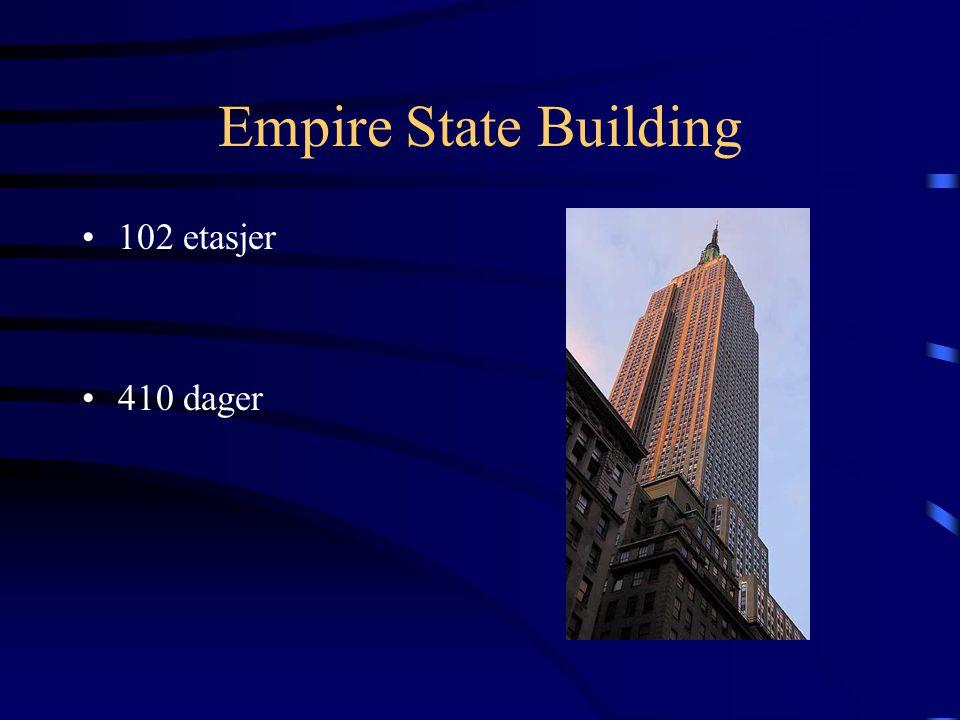 Empire State Building •102 etasjer •410 dager