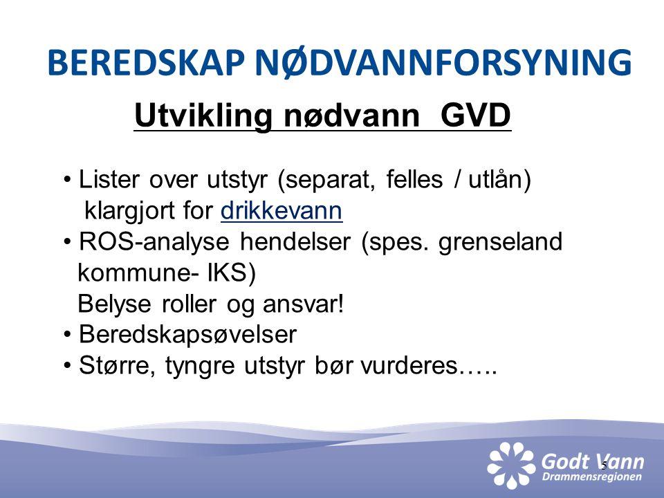 6 BEREDSKAP NØDVANNFORSYNING Osloregionen • 4 kommuner- +++, Nedre Romerike vannverk • Nødvannsforsyning: Leveranse til å dekke min.behovet uten ledningsnett • Rapport foreligger • Igangsetting……?