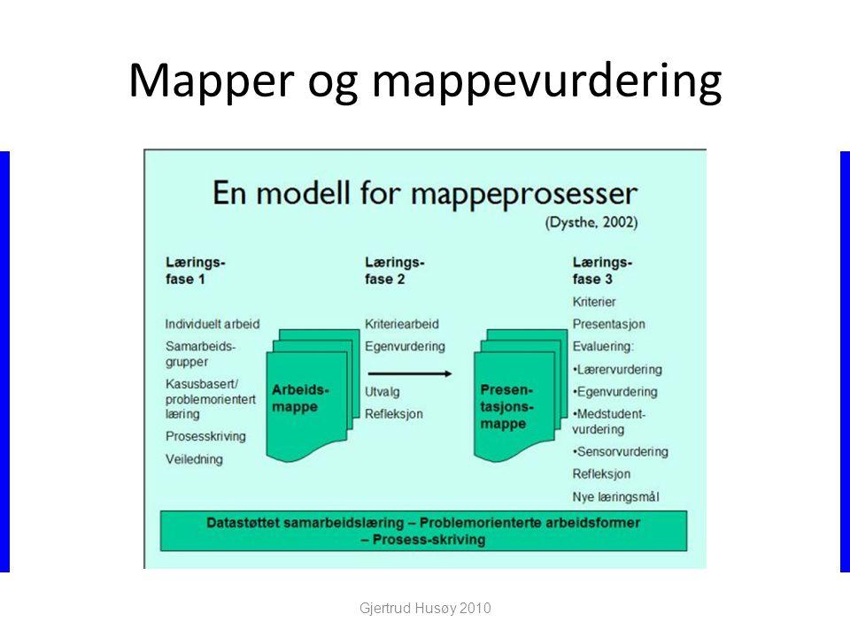Mapper og mappevurdering Gjertrud Husøy 2010