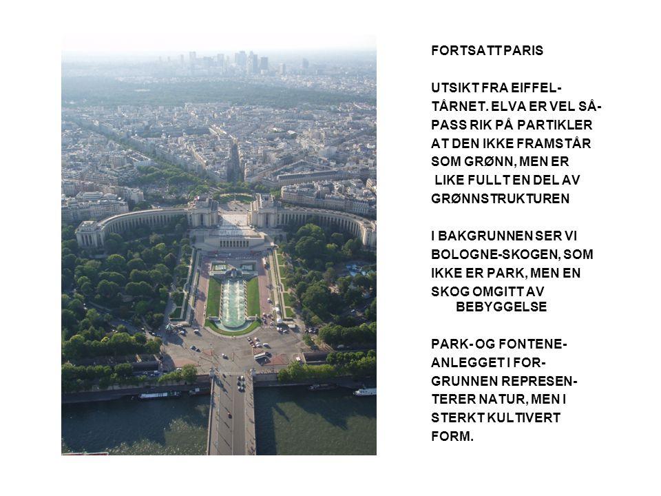 FORTSATT PARIS UTSIKT FRA EIFFEL- TÅRNET.