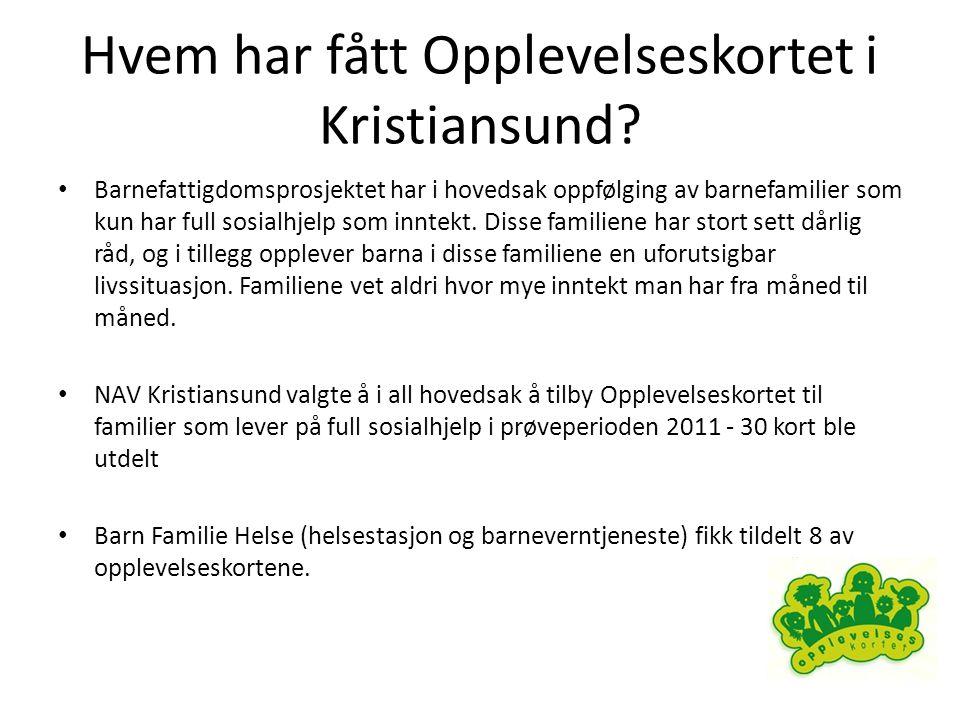 Hvem har fått Opplevelseskortet i Kristiansund.