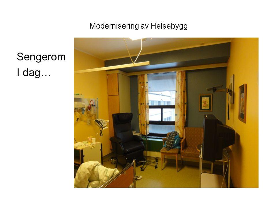 Modernisering av Helsebygg Sengerom I dag…