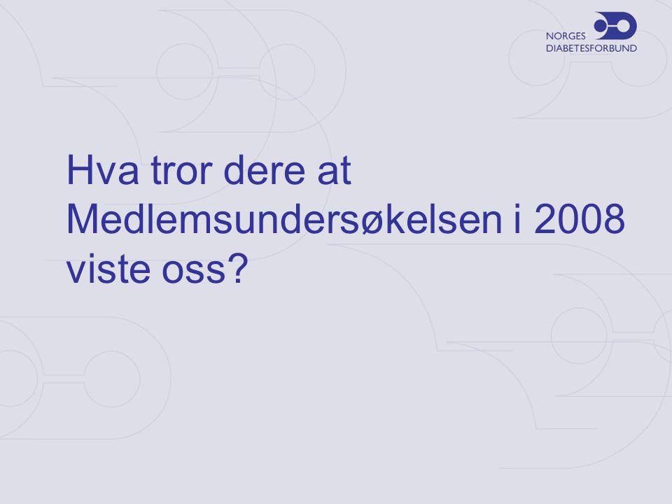 Hva tror dere at Medlemsundersøkelsen i 2008 viste oss
