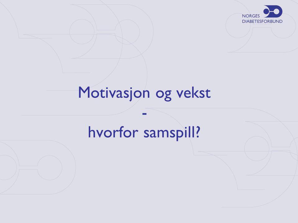 Motivasjon og vekst - hvorfor samspill