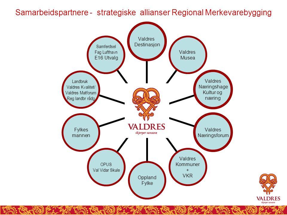 Samarbeidspartnere - strategiske allianser Regional Merkevarebygging