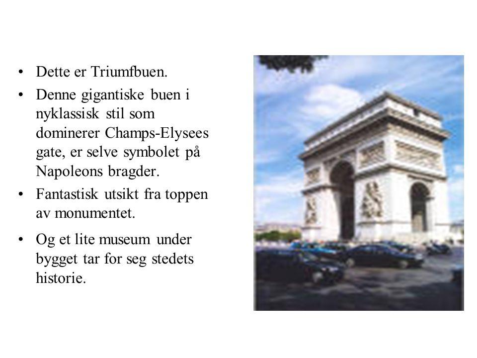 •Dette er Triumfbuen.