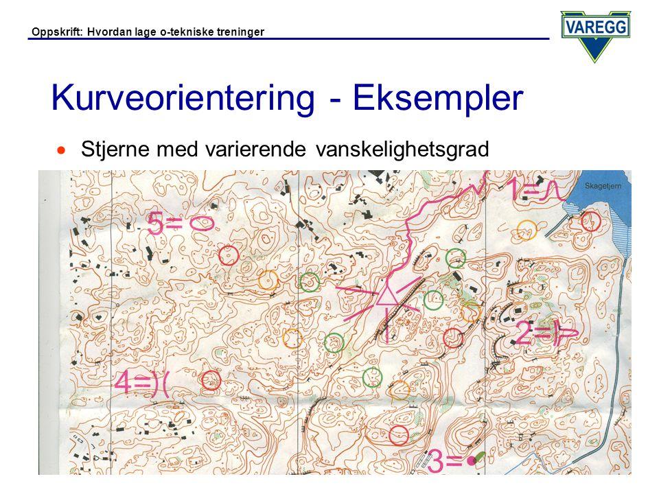 Oppskrift: Hvordan lage o-tekniske treninger Kurveorientering - Eksempler  Linjeorientering