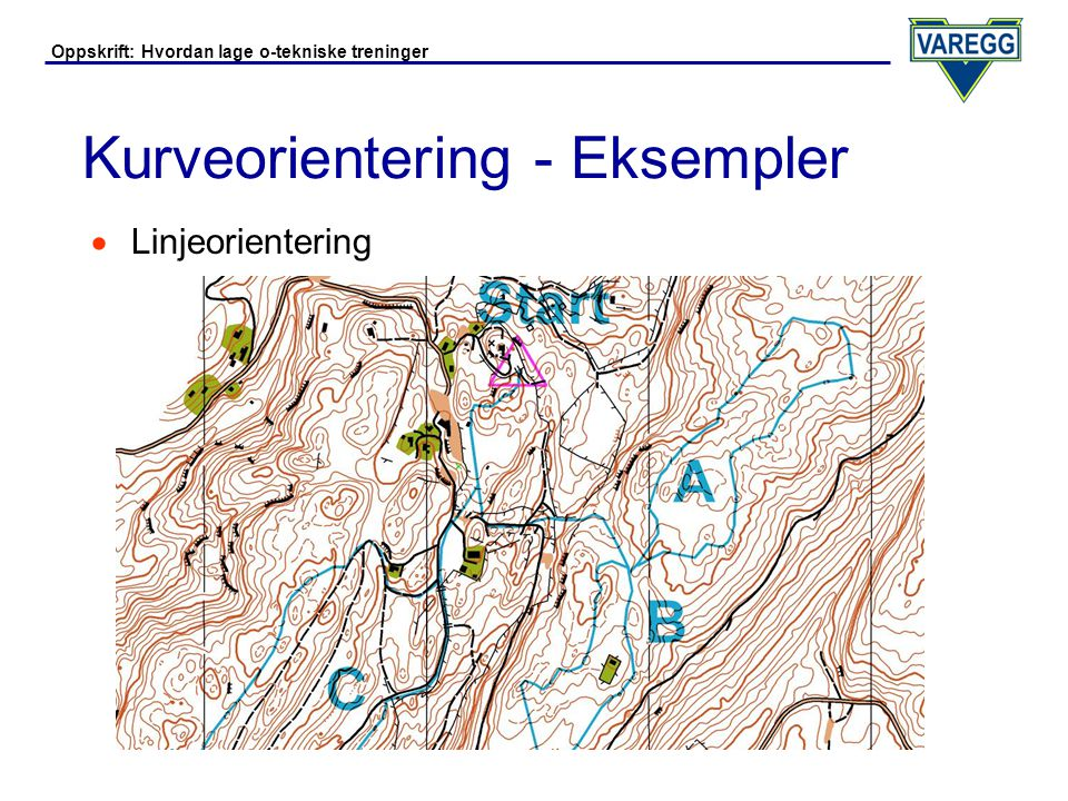 Oppskrift: Hvordan lage o-tekniske treninger Kurveorientering - OCAD 8  Velg alle symboler unntatt høydekurve-symbol