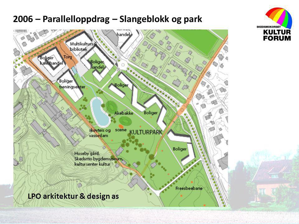 2006 – Parallelloppdrag – Slangeblokk og park LPO arkitektur & design as