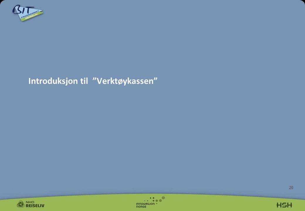 "20 Introduksjon til ""Verktøykassen"""