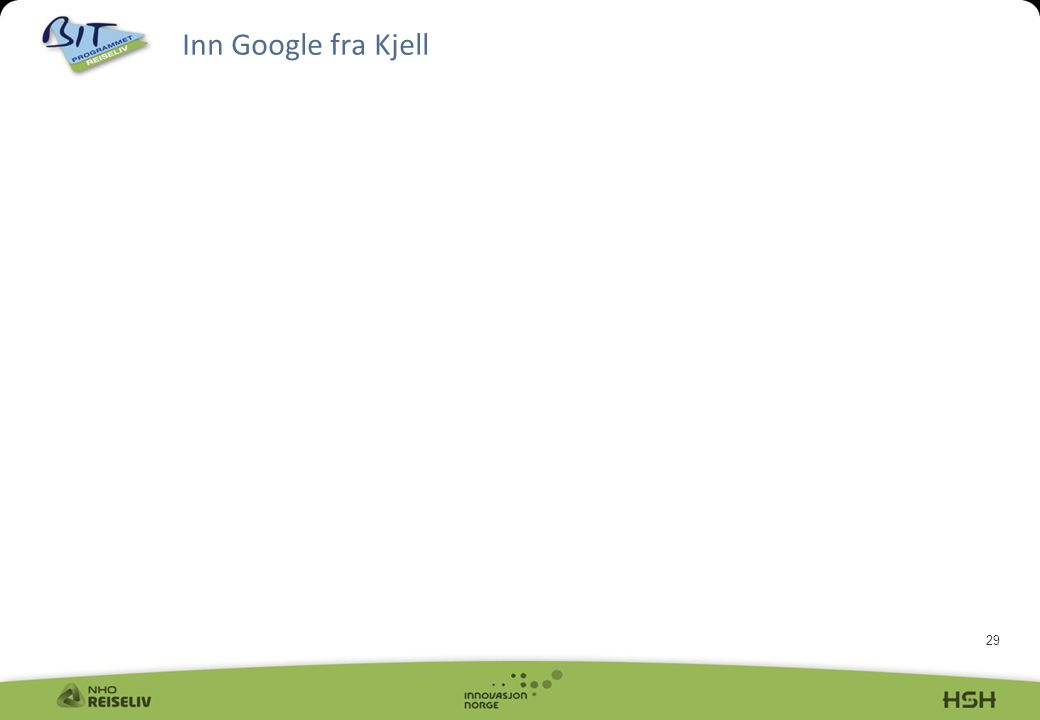 29 Inn Google fra Kjell