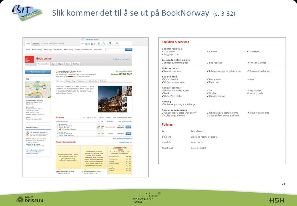 32 Slik kommer det til å se ut på BookNorway (s. 3-32)