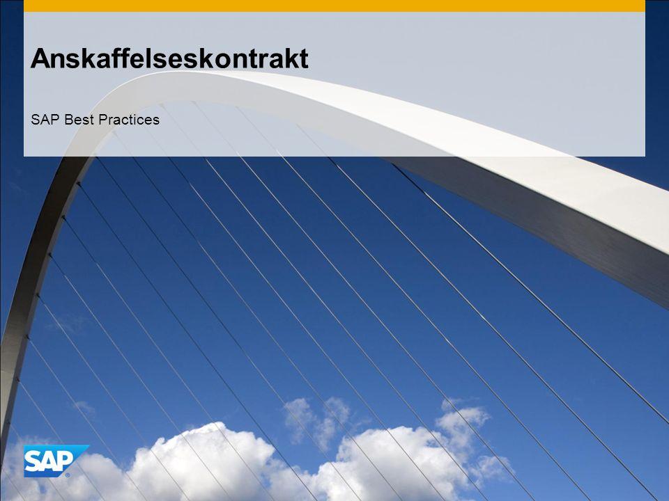Anskaffelseskontrakt SAP Best Practices