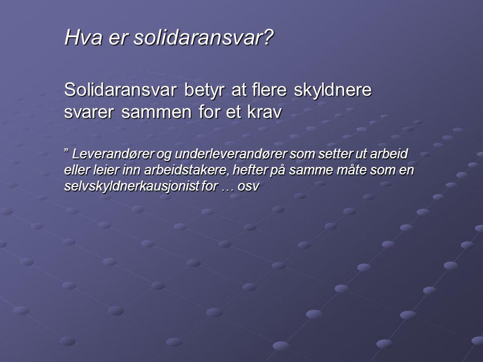 Hva er solidaransvar.