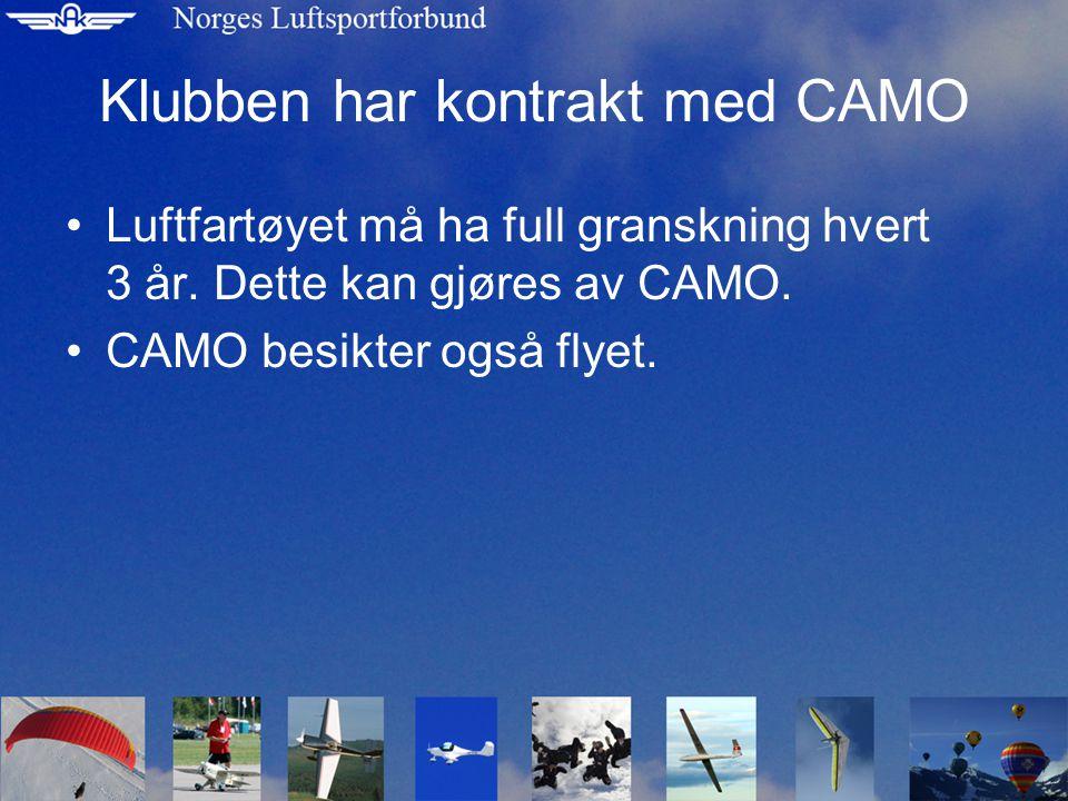 Hva gjør NLF •NLF har søkt Luftfartstilsynet om og bli godkjent CAMO.