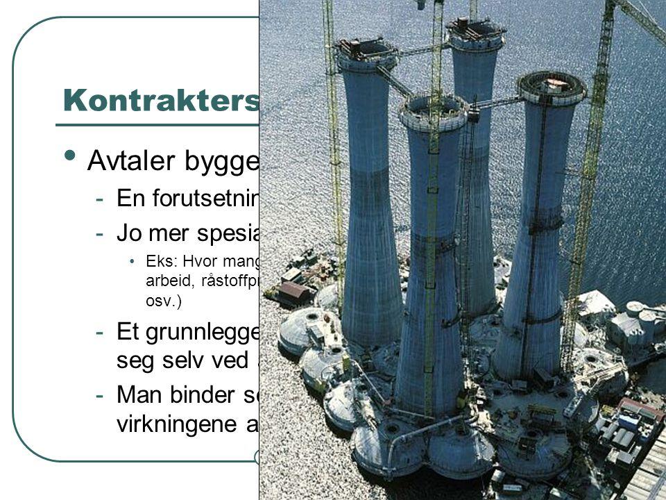 Steinar Taubøll - NMBU Kontrakters rolle i samfunnet • Avtaler bygger samfunnet -En forutsetning for arbeidsdeling -Jo mer spesialisert samfunn, jo fl