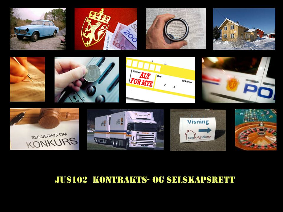 Steinar Taubøll - NMBU Kontrakters plassering i rettssystemet Alternativene: -1.