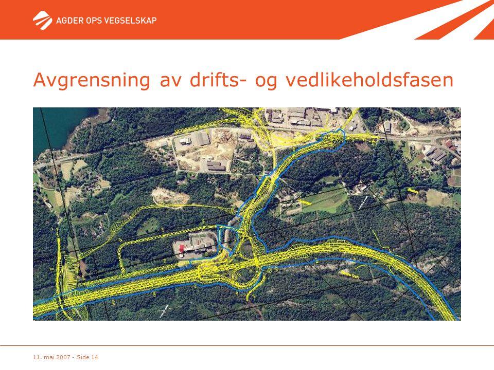 11. mai 2007 - Side 14 Avgrensning av drifts- og vedlikeholdsfasen