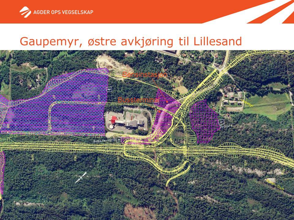 11. mai 2007 - Side 40 Bussterminal Bensinstasjon Gaupemyr, østre avkjøring til Lillesand
