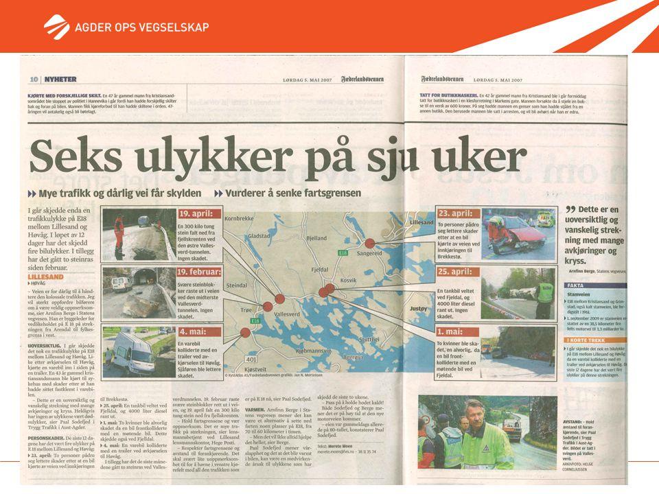 11. mai 2007 - Side 8 Seks ulykker på sju uker Fvn Lørdag 5. mai 2007