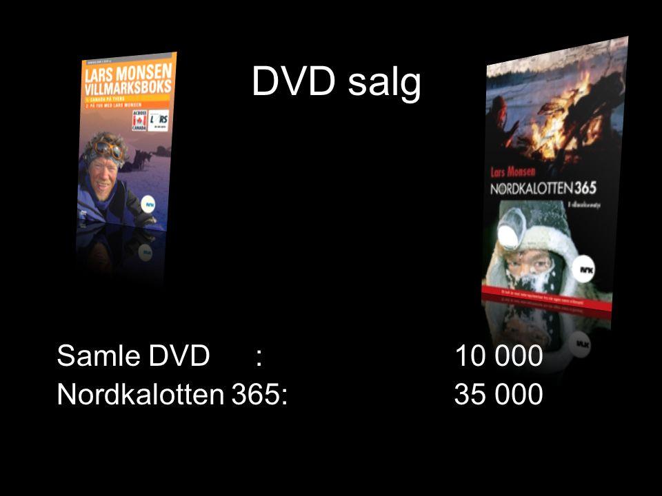 DVD salg Samle DVD: 10 000 Nordkalotten 365: 35 000
