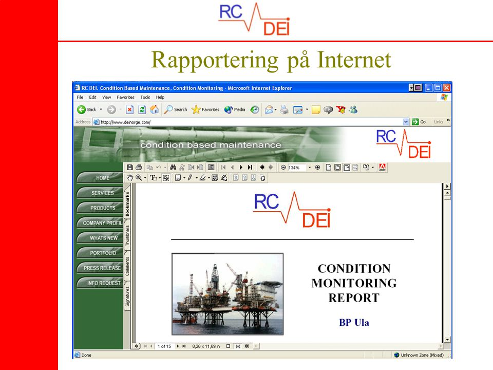 12 Rapportering på Internet